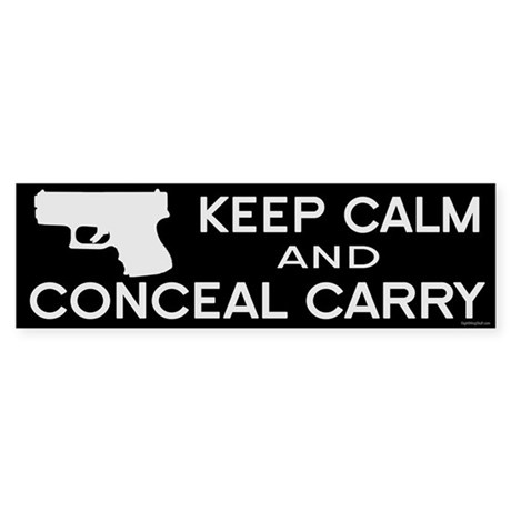 Keep Calm and Conceal Carry Sticker (Bumper)