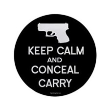 "Keep Calm and Conceal Carry 3.5"" Button (100 pack)"