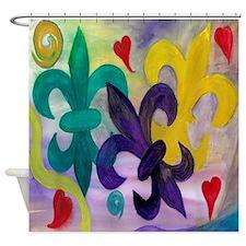 Mardi Gras Fleur de lis Shower Curtain