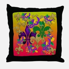 Mardi Gras Blast Throw Pillow