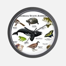 Georgia State Animals Wall Clock