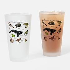 Georgia State Animals Drinking Glass