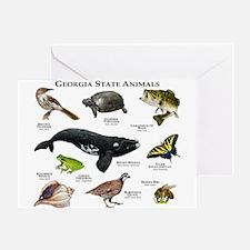 Georgia State Animals Greeting Card