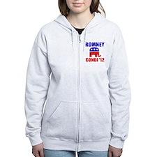 Romney Condi 2012 Zip Hoodie