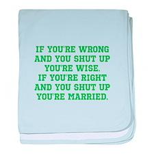Wise vs Married baby blanket