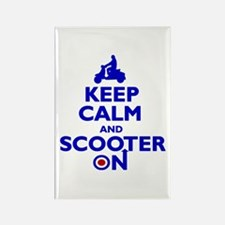 Keep Calm Scooter On Rectangle Magnet (10 pack)