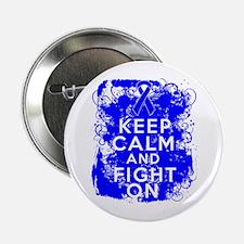 "Colon Cancer Keep Calm Fight On 2.25"" Button"