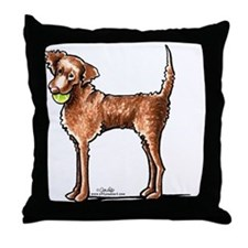 Lets Play Chessie Throw Pillow