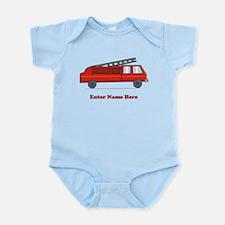 Personalized Fire Truck Infant Bodysuit