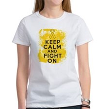Childhood Cancer Keep Calm Fight On Tee