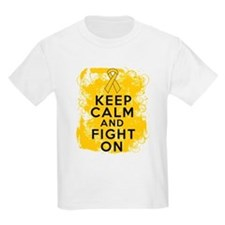 Childhood Cancer Keep Calm Fight On T-Shirt