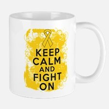 Childhood Cancer Keep Calm Fight On Mug