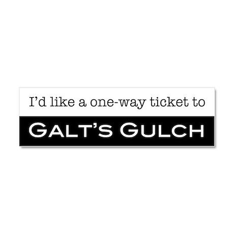 Galts Gulch Ticket Car Magnet 10 x 3