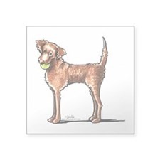"Lets Play Chessie Square Sticker 3"" x 3"""