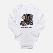 Personalized Train Engine Long Sleeve Infant Bodys