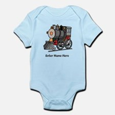 Personalized Train Engine Infant Bodysuit