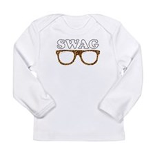 Swag leopard glasses Long Sleeve Infant T-Shirt