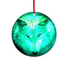 wolf glow Ornament (Round)