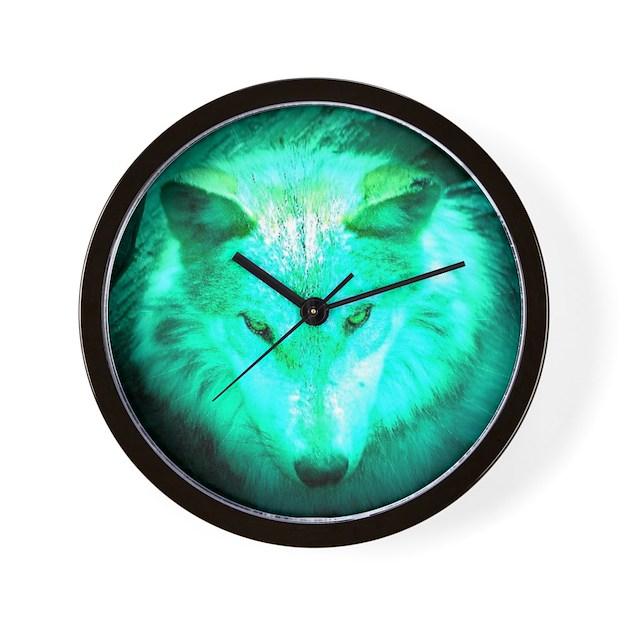 Wolf glow wall clock by wolf62 for Glow in the dark wall clocks australia