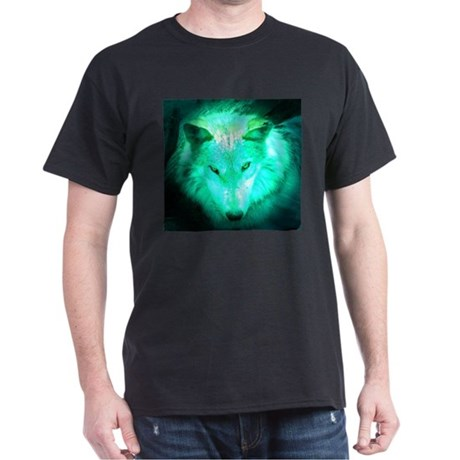 wolf glow Black T-Shirt