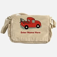 Personalized Tow Truck Messenger Bag