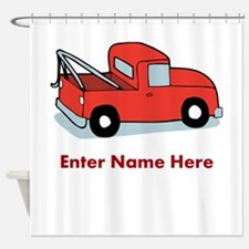 Personalized Tow Truck Shower Curtain