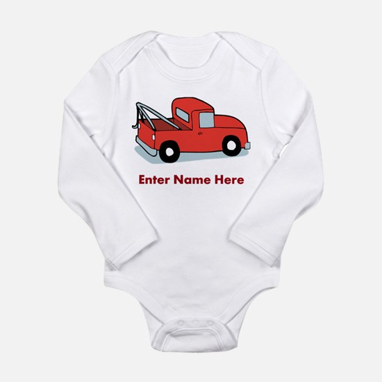 Personalized Tow Truck Long Sleeve Infant Bodysuit