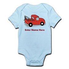 Personalized Tow Truck Infant Bodysuit