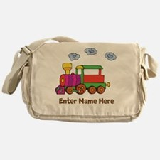 Personalized Train Engine Messenger Bag
