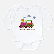 Personalized Train Engine Long Sleeve Infant Bodys