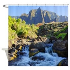 Kalalau Stream Shower Curtain