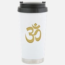 Om, Gold Travel Mug