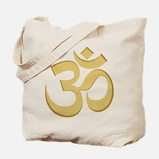 Om, Gold Tote Bag