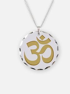 Om, Gold Necklace
