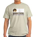 Highway Patrol Kick Ass! Ash Grey T-Shirt