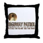 Highway Patrol Kick Ass! Throw Pillow