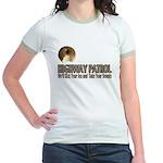 Highway Patrol Kick Ass! Jr. Ringer T-Shirt