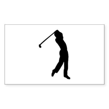 Golf player Sticker (Rectangle)