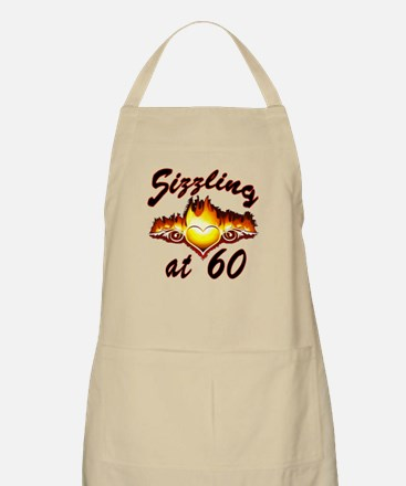 Over-the-Hill Sizzling at 60 Heart Apron