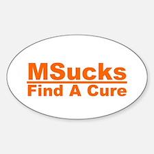 MSucks Sticker (Oval)