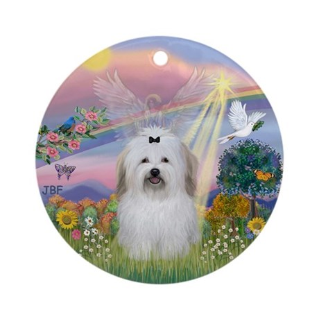 Cloud Angel - Coton de Tulear Ornament (Round)