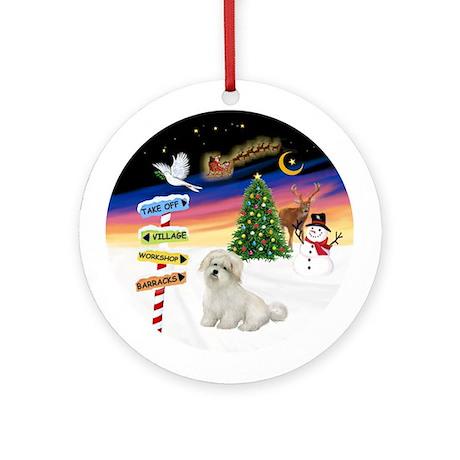 XmasSigns-Coton de Tulear Ornament (Round)