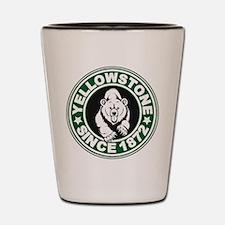 Yellowstone Green Circle Shot Glass