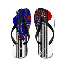 Barcode Flag Flip Flops