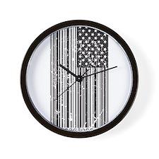 Barcode Flag Wall Clock