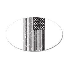 Barcode Flag Wall Decal