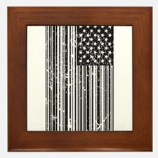 Barcode Flag Framed Tile