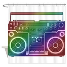 Rainbow Stereo Shower Curtain