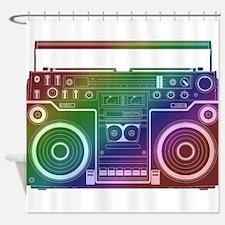 Rainbow Stereo Shower Curtain
