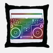 Rainbow Stereo Throw Pillow